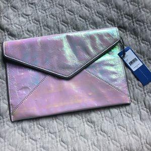 Rebecca Minkoff iridescent clutch